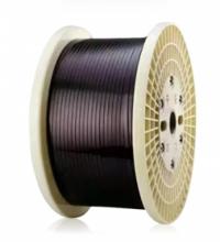 Flat enameled copper wire
