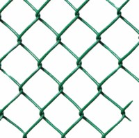 Basketball court chain link fence